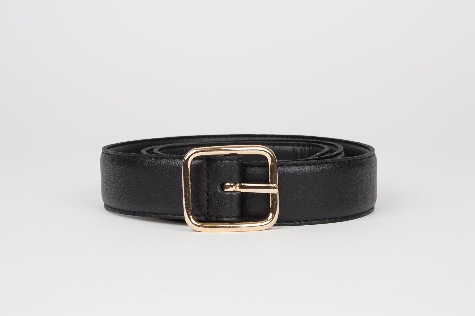 Geometric 3 cm belt black
