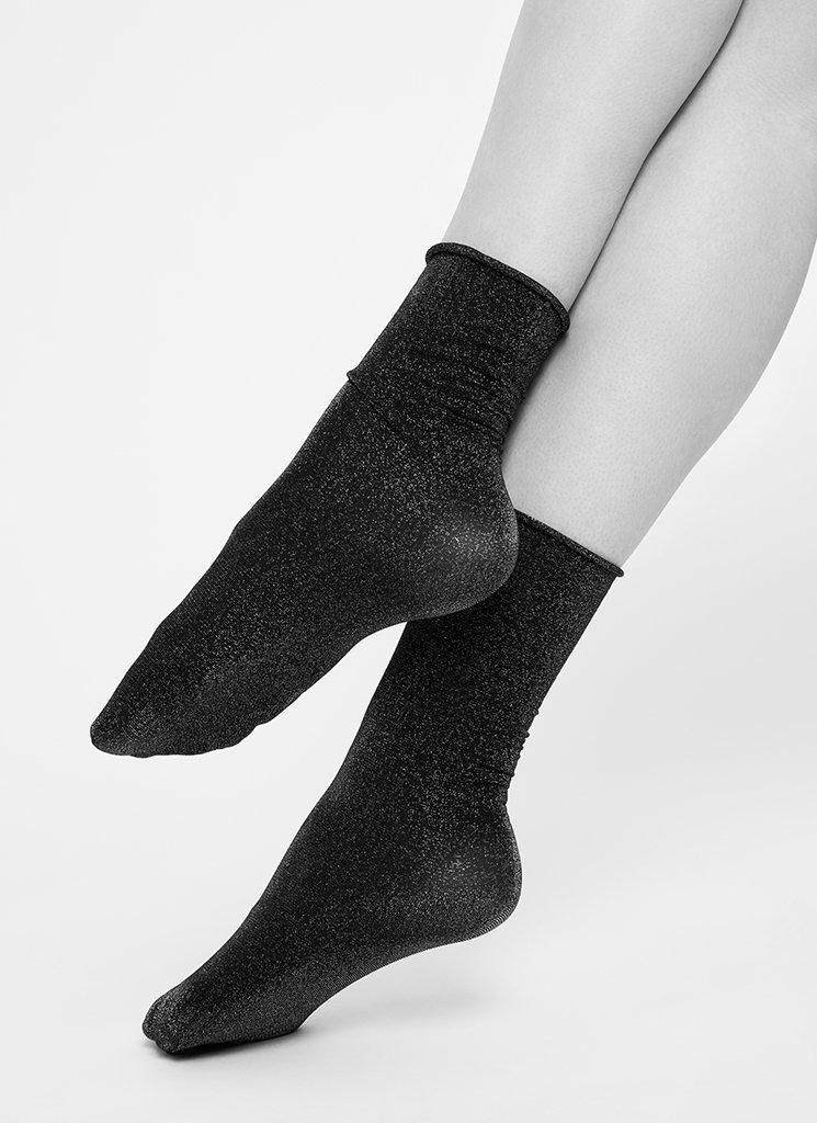 Lisa Lurex Socks Gold