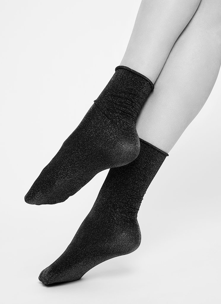Lisa Lurex Socks Silver